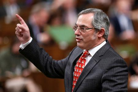 FILE PHOTO: Canadian Conservative legislator Tony Clement pictured in the House of Commons in Ottawa