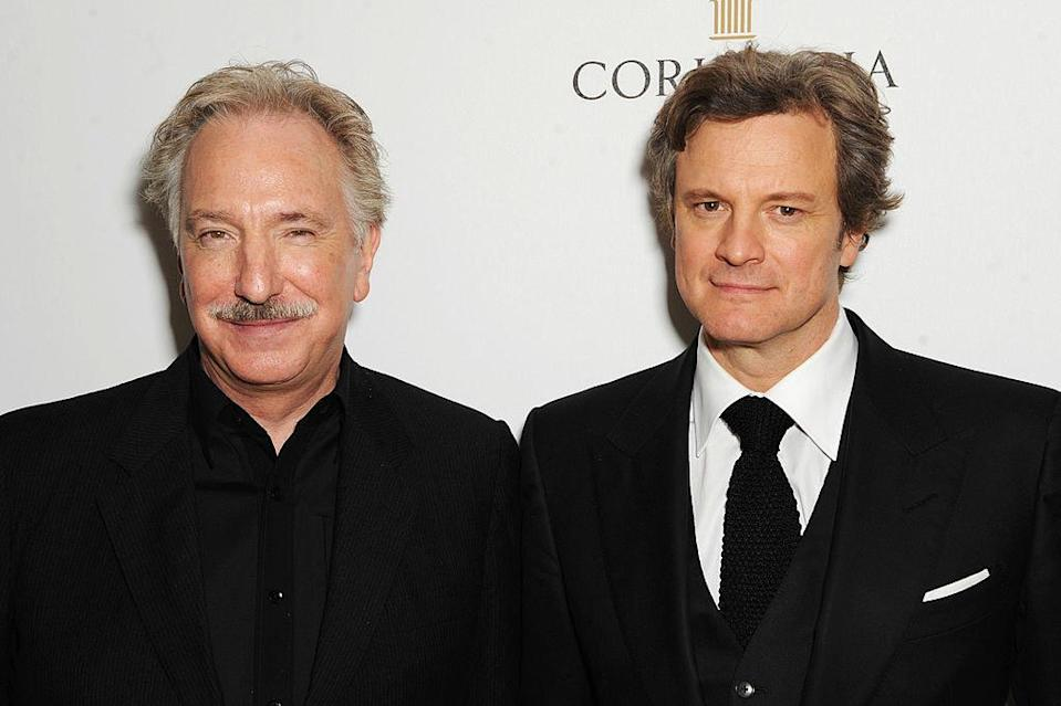 Alan Rickman and Colin Firth on the red carpet together