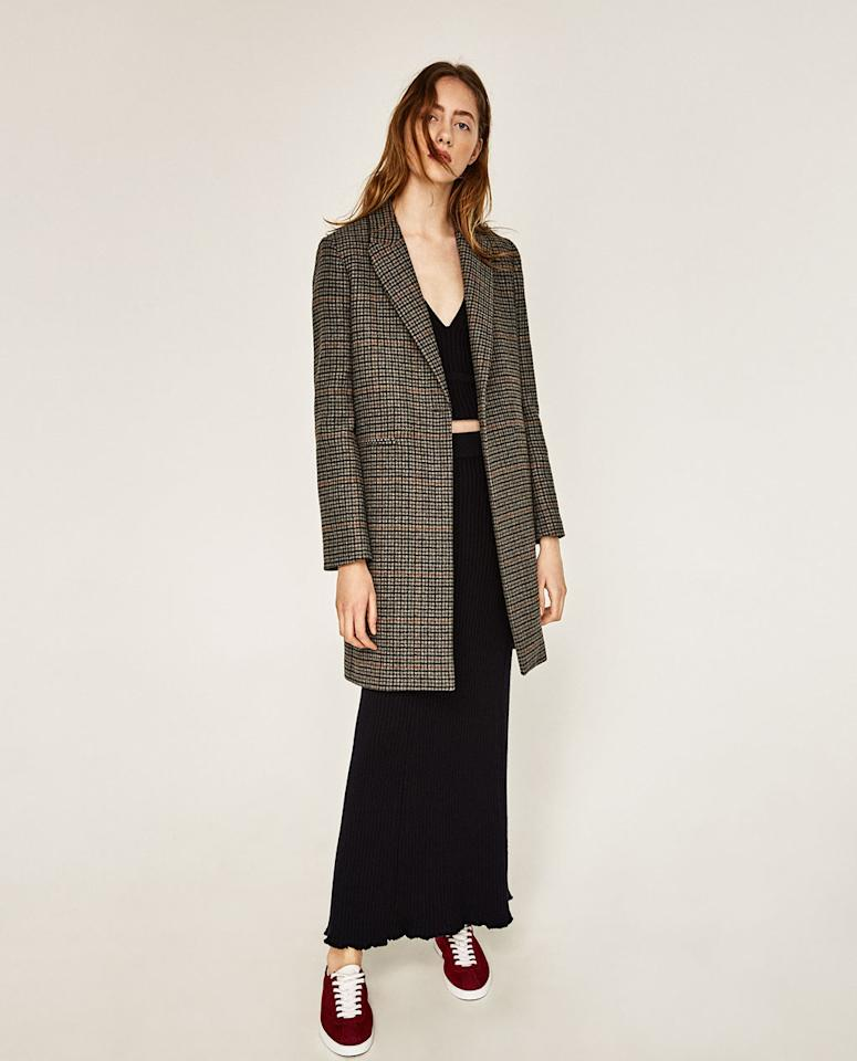 """<p><p><a rel=""""nofollow"""" href=""""http://www.zara.com/us/en/woman/outerwear/view-all/masculine-checked-coat-c733882p4156012.html"""">Masculine Checked Coat, $189</a></p>                                                                                                                                                                           <ul>     <strong>Related Articles</strong>     <li><a rel=""""nofollow"""" href=""""http://thezoereport.com/fashion/style-tips/box-of-style-ways-to-wear-cape-trend/?utm_source=yahoo&utm_medium=syndication"""">The Key Styling Piece Your Wardrobe Needs</a></li><li><a rel=""""nofollow"""" href=""""http://thezoereport.com/beauty/makeup/anastasia-beverly-hills-lip-palette/?utm_source=yahoo&utm_medium=syndication"""">Anastasia Beverly Hills' Latest Launch Could Be The Next Cult Product</a></li><li><a rel=""""nofollow"""" href=""""http://thezoereport.com/fashion/style-tips/winter-layering-outfit-ideas/?utm_source=yahoo&utm_medium=syndication"""">4 Fashion-Girl Layering Tricks That'll Actually Keep You Warm This Winter</a></li></ul>"""