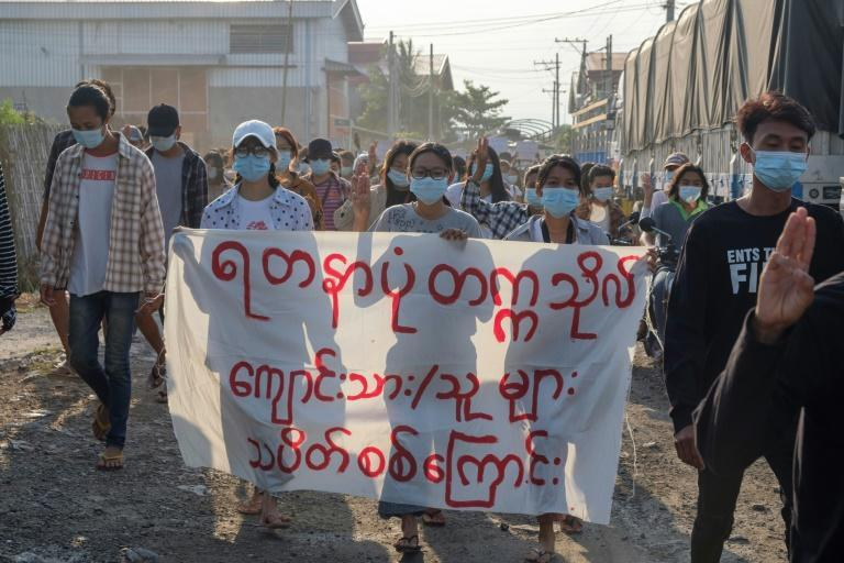 Protesters continued across Myanmar on the 100th day since the military seized power