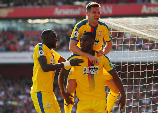 Benteke scored his first of the season as Palace won for the first time ever at the Emirates Stadium