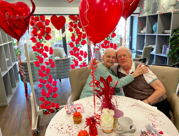 Betty and Kenneth Meredith were reunited after spending over a month apart. (SWNS)