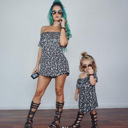 No doubt the toddler wanted to follow in her mum's fashionable footsteps. Photo: Instagram