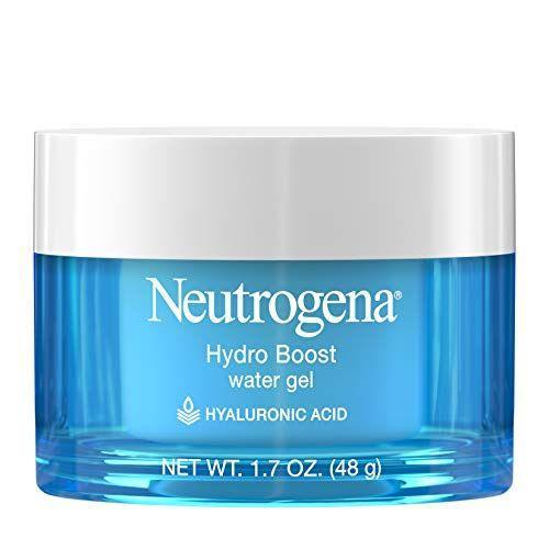 """<p><strong>Neutrogena</strong></p><p>amazon.com</p><p><strong>$15.63</strong></p><p><a href=""""http://www.amazon.com/dp/B00NR1YQHM/?tag=syn-yahoo-20&ascsubtag=%5Bartid%7C10055.g.32906564%5Bsrc%7Cyahoo-us"""" rel=""""nofollow noopener"""" target=""""_blank"""" data-ylk=""""slk:Shop Now"""" class=""""link rapid-noclick-resp"""">Shop Now</a></p><p>The water-like, refreshing gel texture of this unique GH Seal star Neutrogena moisturizer is perfect for skin prone to shine and <a href=""""https://www.goodhousekeeping.com/beauty-products/g5059/best-primers-for-oily-skin/"""" rel=""""nofollow noopener"""" target=""""_blank"""" data-ylk=""""slk:greasy spots"""" class=""""link rapid-noclick-resp"""">greasy spots</a>. Oil-free, non-comedogenic (not <a href=""""https://www.goodhousekeeping.com/beauty/anti-aging/a35847/how-to-minimize-pores/"""" rel=""""nofollow noopener"""" target=""""_blank"""" data-ylk=""""slk:pore-clogging"""" class=""""link rapid-noclick-resp"""">pore-clogging</a>), and made with hydrating <a href=""""https://www.goodhousekeeping.com/beauty/anti-aging/g31136198/best-hyaluronic-acid-serums/"""" rel=""""nofollow noopener"""" target=""""_blank"""" data-ylk=""""slk:hyaluronic acid"""" class=""""link rapid-noclick-resp"""">hyaluronic acid</a><strong>, the formula kept skin moisturized for 12 hours</strong>, study data showed.</p>"""