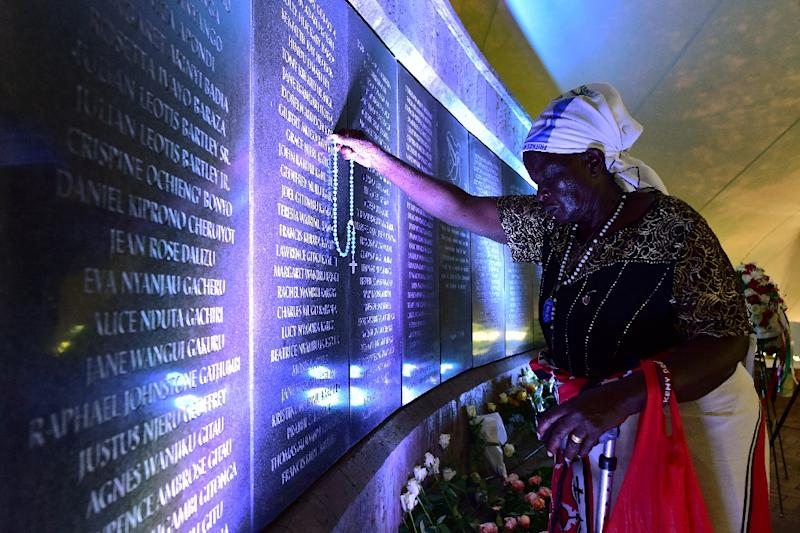 Margaret Achieng, 80, lost her daughter Doreen in the 1998 bombing of the US embassy in Nairobi (AFP Photo/TONY KARUMBA)