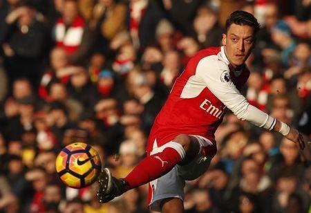 Football Soccer Britain - Arsenal v Burnley - Premier League - Emirates Stadium - 22/1/17 Arsenal's Mesut Ozil in action Action Images via Reuters / John Sibley Livepic