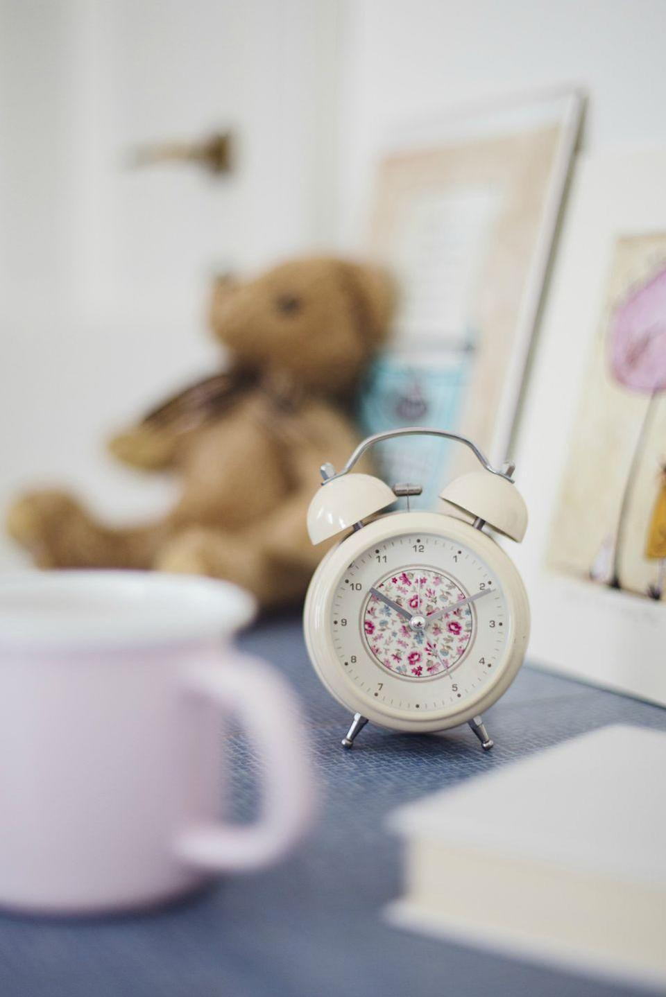 """<p>Give kids their own <a href=""""https://www.womansday.com/home/a22653534/philips-somneo-sunrise-alarm-clock/"""" rel=""""nofollow noopener"""" target=""""_blank"""" data-ylk=""""slk:alarm clocks"""" class=""""link rapid-noclick-resp"""">alarm clocks</a> and post morning checklists of things they need to get done before<a href=""""https://www.womansday.com/back-to-school/"""" rel=""""nofollow noopener"""" target=""""_blank"""" data-ylk=""""slk:heading off to school"""" class=""""link rapid-noclick-resp""""> heading off to school</a>. It'll teach them responsibility <em>and </em>you'll have less stuff to organize yourself. </p><p><strong><a class=""""link rapid-noclick-resp"""" href=""""https://www.amazon.com/dp/B078Z4KFDR/?tag=syn-yahoo-20&ascsubtag=%5Bartid%7C10070.g.3310%5Bsrc%7Cyahoo-us"""" rel=""""nofollow noopener"""" target=""""_blank"""" data-ylk=""""slk:SHOP KIDS' ALARMS"""">SHOP KIDS' ALARMS</a></strong></p>"""