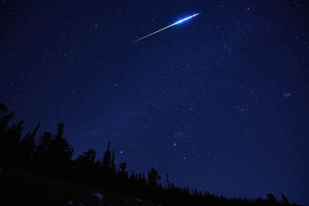 A meteor exploded over Earth in December (Picture: Getty)