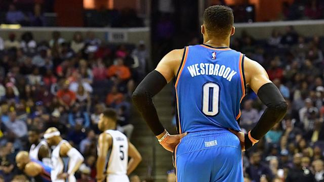 Russell Westbrook didn't get a triple-double in Wednesday's game against Memphis.