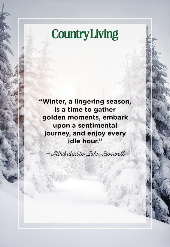 "<p>""Winter, a lingering season, is a time to gather golden moments, embark upon a sentimental journey, and enjoy every idle hour.""</p>"