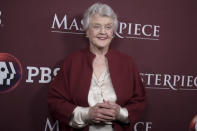 FILE - Angela Lansbury attends a photocall during the PBS Television Critics Association Winter Press Tour on Jan. 16, 2018, in Pasadena, Calif. Lansbury turns 96 on Oct. 16. (Photo by Richard Shotwell/Invision/AP, File)