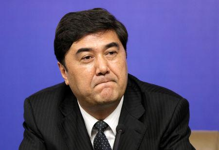 Nur Bekri, Chairman of Xinjiang Uygur Autonomous Region, attends a news conference during the annual session of China's parliament, the National People's Congress (NPC), in Beijing March 7, 2010.  REUTERS/Jason Lee