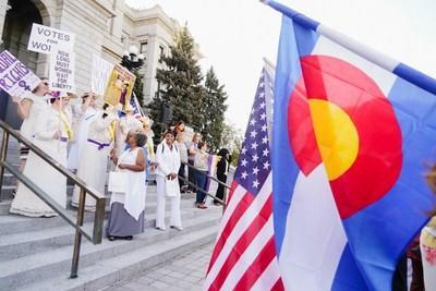 The Women's Vote Centennial year-long commemoration of the 19th Amendment kicked off at the Colorado State Capitol on Women's Equality Day, August 26, 2019.