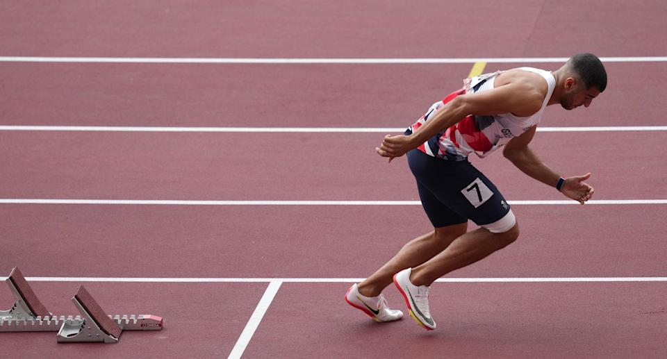 Gemili pulled up immediately in his 200m heat. (Martin Rickett/PA) (PA Wire)