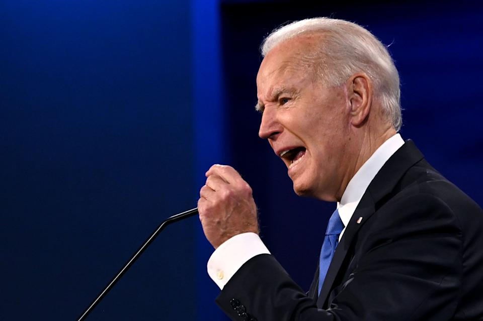 Democratic presidential nominee Joe Biden rejected President Donald Trump's assertions that he has adopted the most far-reaching proposals of his party's left wing. (Photo: JIM WATSON/Getty Images)