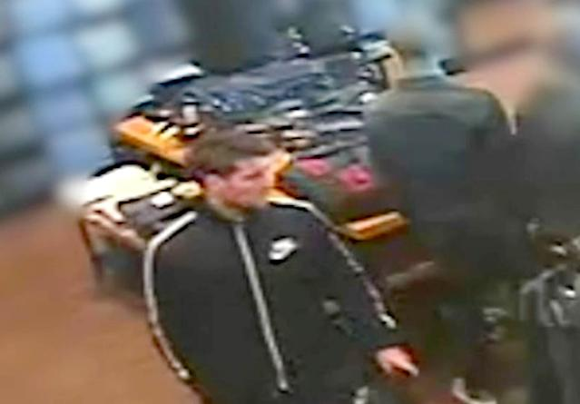 Caught on camera; O'Brien spotted in a shop buying new clothes after attacking 21-year-old Hanson. (PA)