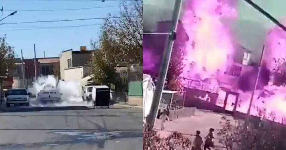 Captura de video Twitter vía @alertasurbanas y @QuePocaMadre_Mx