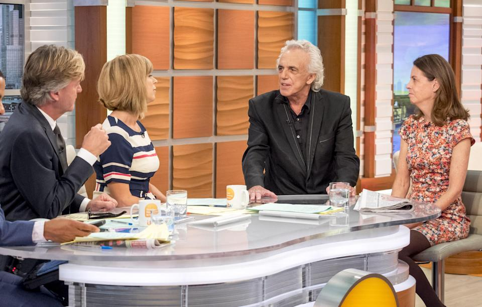 Peter Stringfellow's final TV interview which was on Good Morning Britain. (REX)