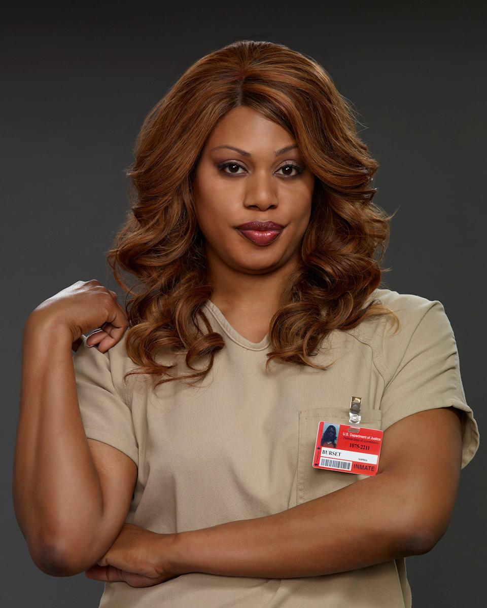 """Laverne Cox is the first openly transgender person to earn a Primetime Emmy nomination. She ultimately earned four nominations for her portrayal of Sophia Burset on Netflix's """"Orange Is the New Black."""""""