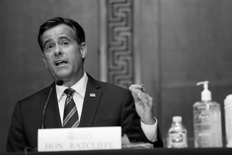 Then Rep. John Ratcliffe, R-TX, testifies before a Senate Intelligence Committee nomination hearing on Capitol Hill in Washington in May. (Andrew Harnik/Pool via Reuters)
