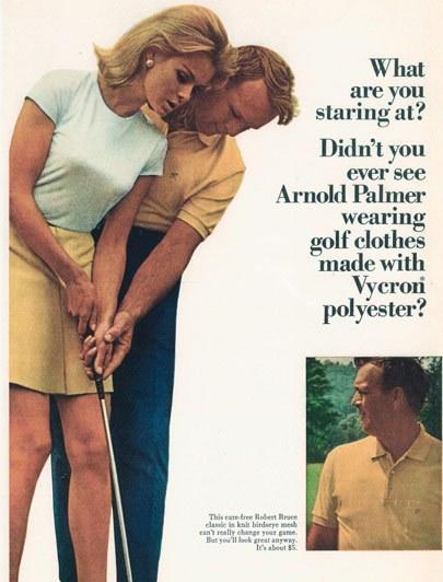 Palmer paired up with countless models to produce ads.