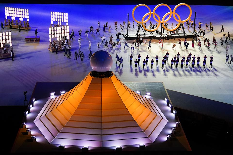 <p>More performers are seen during the Opening Ceremony of the Tokyo 2020 Olympic Games. (Photo by Bai Yu/CHINASPORTS/VCG via Getty Images)</p>