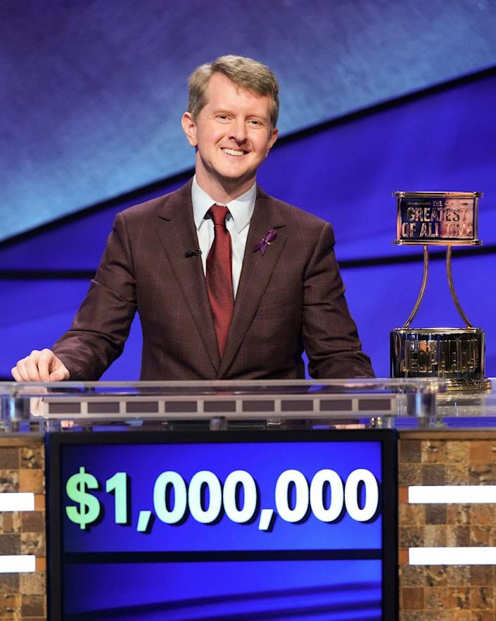 """<p>Ken Jennings needs no introduction. In 2004, Jennings, then a software engineer in Salt Lake City, threw the<em> Jeopardy!</em> record book out the window with an unprecedented 74-game winning streak, which netted him a whopping $2,520,700. Jennings' streak captivated the nation, <a href=""""https://web.archive.org/web/20070928190251/http://www.kingworld.com/release/jennings_113004.html"""" rel=""""nofollow noopener"""" target=""""_blank"""" data-ylk=""""slk:increasing"""" class=""""link rapid-noclick-resp"""">increasing</a> <em>Jeopardy!</em>'s ratings by 22% and making <em>Jeopardy! </em>the highest-ranked syndicated television show. To this day, Jennings holds the records for longest winning streak and highest average of correct responses. His<em> Jeopardy!</em> winnings (including tournament paydays) and other game show appearances have lodged him in the television pantheon as the highest-earning contestant in the history of American game shows. Jennings <a href=""""https://www.businessinsider.com/jeopardy-winners-spend-prize-money-investing-2018-3#jennings-says-the-greatest-luxury-his-earnings-allowed-him-was-to-spend-more-time-with-his-wife-and-two-children-he-was-also-able-to-move-from-utah-to-seattle-and-buy-a-house-3"""" rel=""""nofollow noopener"""" target=""""_blank"""" data-ylk=""""slk:spent"""" class=""""link rapid-noclick-resp"""">spent</a> his winnings on what he calls """"the three T's: taxes, tithing, and widescreen TV"""" (Jennings, a Mormon, practices tithing 10% of his yearly income to the Church of Latter Day Saints). There's been no truly post-<em>Jeopardy! </em>life for Jennings, a forever friend of the show, who came back to face off against IBM supercomputer Watson, and who remains a consulting producer.</p>"""