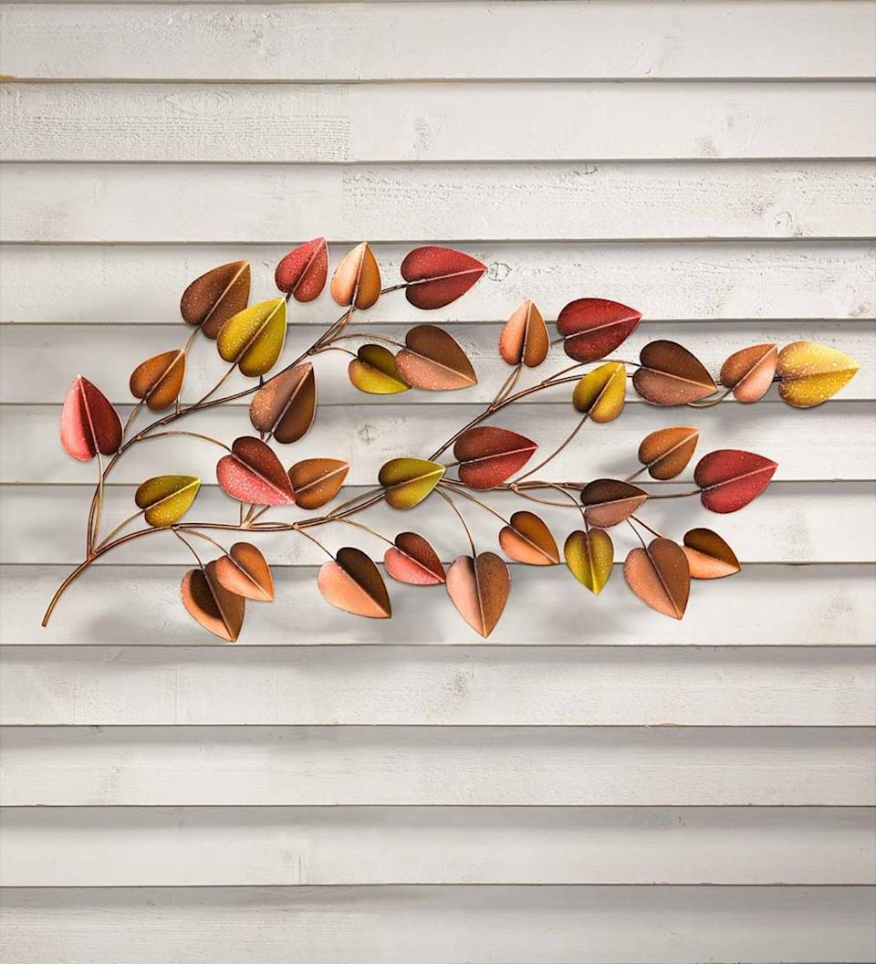 Autumn Leaf Horizontal Metal Wall Art