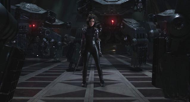 Rosa Salazar gets ready to kick ass in this still from <i>Alita: Battle Angel</i> (20th Century Fox)