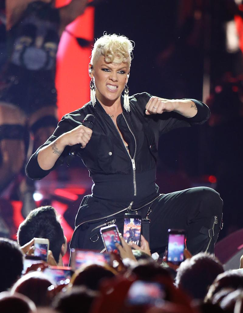 Pink performs onstage during the 2017 iHeartRadio Music Festival