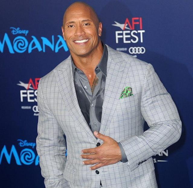 Actor Dwayne Johnson arrives for the AFI FEST. (Photo: Albert L. Ortega/Getty Images)