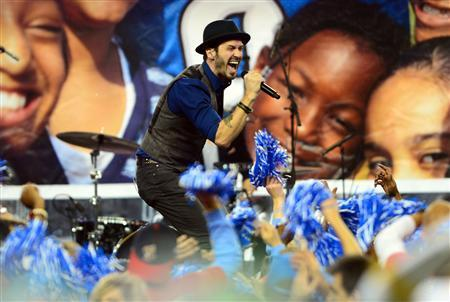 Recording artist Tony Lucca performs during halftime of a NFL football game between the Detroit Lions and Green Bay Packers on Thanksgiving at Ford Field. Mandatory Credit: Andrew Weber-USA TODAY Sports