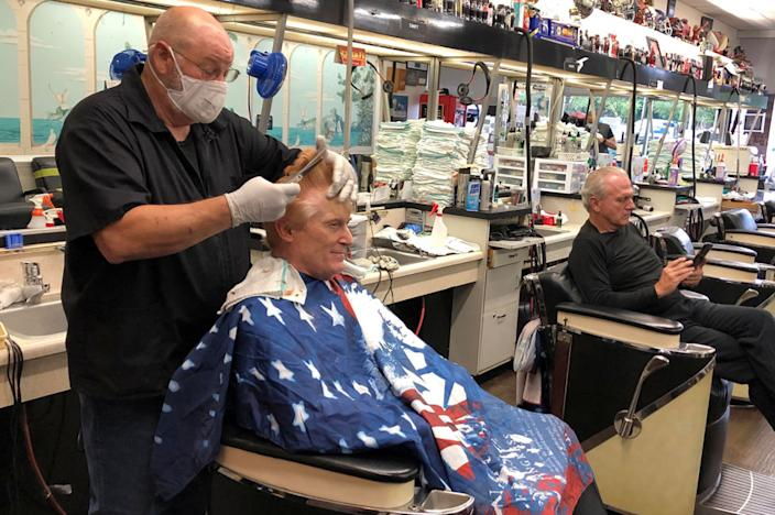Barber shops opened in Georgia on Friday