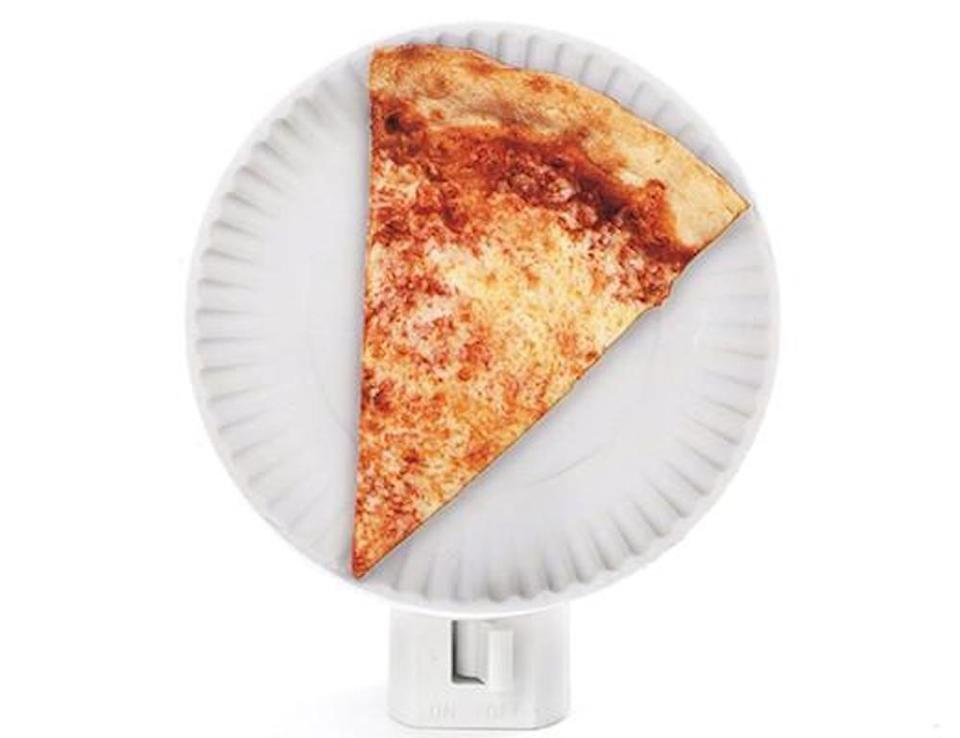 "<p><strong>kikkerland</strong></p><p>kikkerland.com</p><p><strong>$7.00</strong></p><p><a href=""https://kikkerland.com/collections/best-sellers/products/pizza-night-light"" rel=""nofollow noopener"" target=""_blank"" data-ylk=""slk:Shop Now"" class=""link rapid-noclick-resp"">Shop Now</a></p><p>Pizza.... night light? Weirdly, it makes a pretty epic gift. </p>"