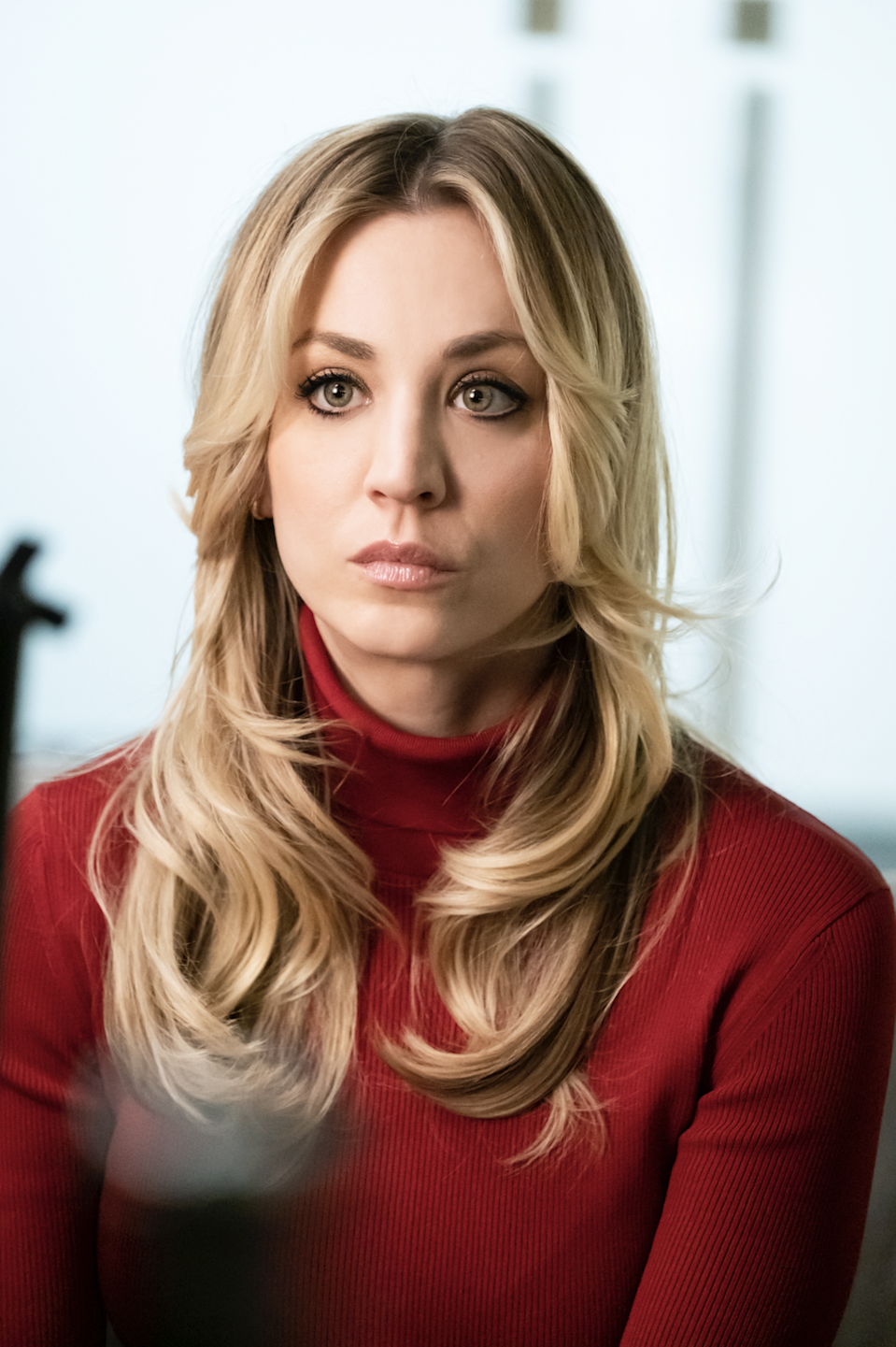 """<h1 class=""""title"""">The-Flight-Attendant-Kaley-Cuoco-vertical-image-red-turtleneck.jpg</h1><div class=""""caption"""">Kaley Cuoco as """"Cassie Bowden"""" in HBO Max's <em>The Flight Attendant</em></div><cite class=""""credit"""">HBO Max</cite>"""