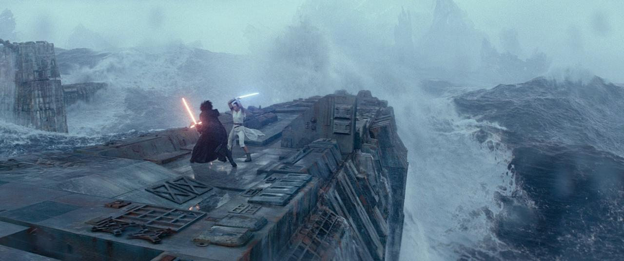 """<p>As with all <strong>Star Wars</strong> films, <strong>Episode IX</strong> is intense from the get-go and filled with scenes that make your muscles tense up, moments that make you want to watch through your fingers, and reveals that cause you to jump out of your seat. And because the film is so dark - in terms of lighting, though the dark side's influence is ever-present, of course - all of the action tends to feel like it sneaks up on you. If your kids have seen a <strong>Star Wars</strong> movie and handled it well, all should be fine, but if you have a child who tends to get stressed or anxious when characters are in peril or giant fight scenes are occurring, know that there's more of that in this film than there are calm moments that give you a chance to breathe.</p> <p><em>Spoiler alert: some of the most tense scenes are when Kylo Ren and Rey battle (like in the photo above), <a href=""""https://www.popsugar.com/entertainment/Why-Palpatine-Good-Villain-Star-Wars-Episode-9-46030249"""" class=""""ga-track"""" data-ga-category=""""Related"""" data-ga-label=""""https://www.popsugar.com/entertainment/Why-Palpatine-Good-Villain-Star-Wars-Episode-9-46030249"""" data-ga-action=""""In-Line Links"""">when Emperor Palpatine, back from the dead</a>, is on the screen, and just the general fighting scenes (of which there are too many to count). A particularly jumpy scene comes right after Rey finds the second Wayfinder.</em></p> <div class=""""related-stories clearfix"""">     <div class=""""related-header"""">Related:</div>              <a href=""""https://www.popsugar.com/family/love-your-melon-star-wars-beanies-47005167""""            class=""""related-link related-link-with-image """"                                         >             <div class=""""related-poster"""">                                     <img  alt=""""Love Your Melon Star Wars Beanies"""" class=""""image smallsquare"""" width=""""75"""" height=""""75"""" src=""""https://media1.popsugar-assets.com/files/thumbor/xYIdAPrBQgVVo0eMq0iZlBVuK34/1345x0:5825x4480/fit-in/75x75/filters:format_au"""