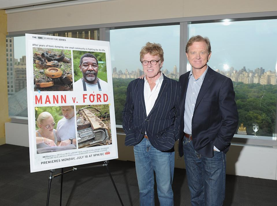 Robert and James Redford at Bryant Park Summer Film Festival 2011 at Bryant Park on June 20, 2011 in New York City.