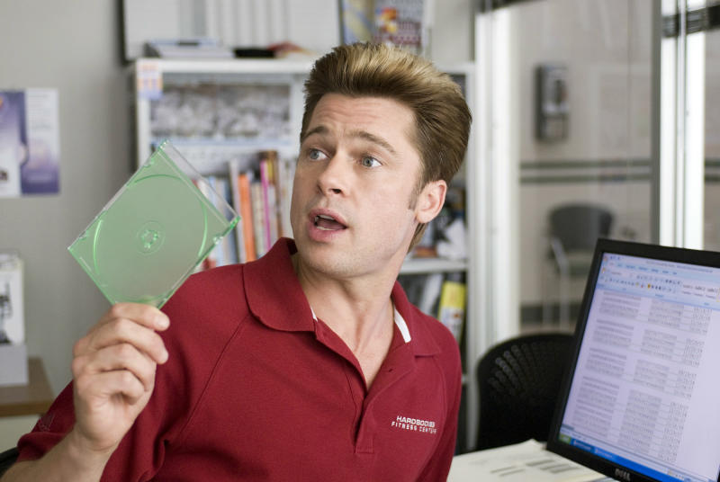 """In this image released by Focus Features, Brad Pitt is shown in a scene from """"Burn After Reading."""" (AP Photo/Focus Features)"""