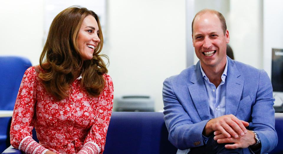 LONDON, ENGLAND - SEPTEMBER 15: Prince William, Duke of Cambridge and Catherine, Duchess of Cambridge speak to people looking for work at the London Bridge Jobcentre on September 15, 2020 in London, England. (Photo by Henry Nicholls - WPA Pool/Getty Images)