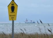"""FILE PHOTO: The Russian pipe-laying ship """"Fortuna"""" is seen in the Mecklenburg Bay"""