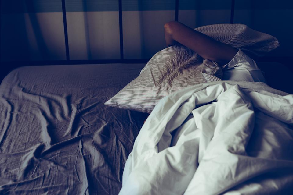 People's sleep patterns may change if they are depressed. source: Getty