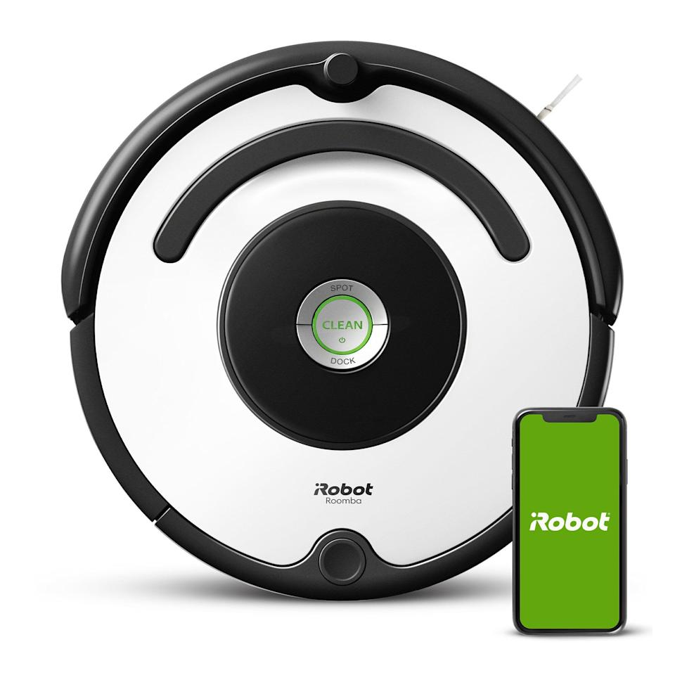 "<a href=""https://goto.walmart.com/c/2055067/565706/9383?u=https%3A%2F%2Fwww.walmart.com%2Fip%2FiRobot-Roomba-670-Robot-Vacuum-Wi-Fi-Connectivity-Works-with-Google-Home-Good-for-Pet-Hair-Carpets-Hard-Floors-Self-Charging%2F734447693&subid1=5&subid2=primedaywalmartdeals&subid3=vacuums"" target=""_blank"" rel=""noopener noreferrer"">Originally $330, get it now for $244 at Walmart</a>."