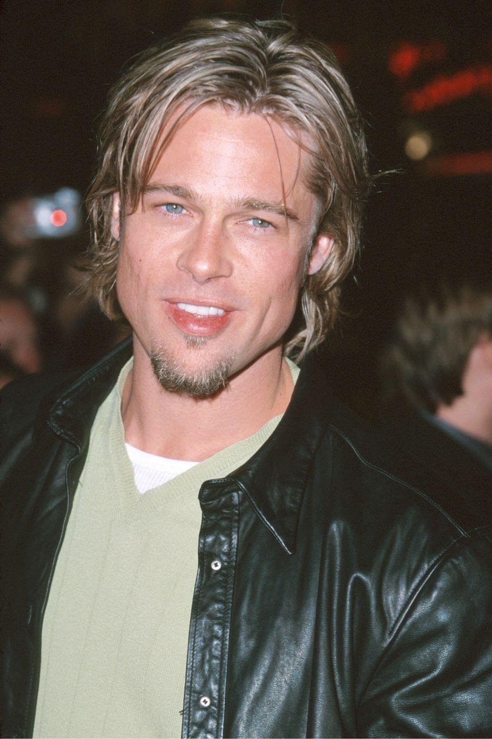 <p>Ah, yes, the <em>Snatch</em> era. A bit oilier than I'd like, Pitt is somewhere between Ellen Degeneres coming out on national television and Kurt Cobain. The length suits him surprisingly well... it's just that strange wet look that never seems to land correctly.</p>