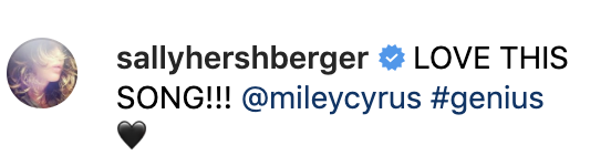 (Screenshot: Miley Cyrus via Instagram)