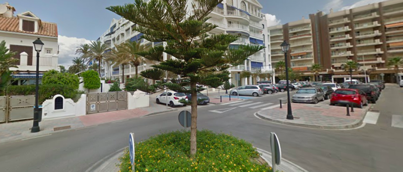 Holiday tragedy: The boy fell from a terrace on Alberto Morgenstern street, pictured. (Google Maps)