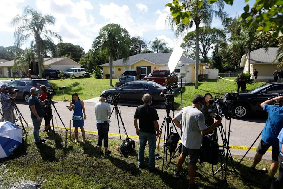 Members of the media camped out near the home of Brian Laundrie (Getty Images)