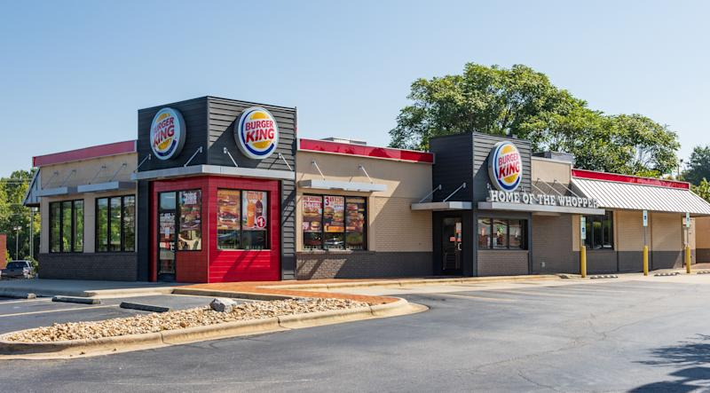 Exterior of a Burger King store