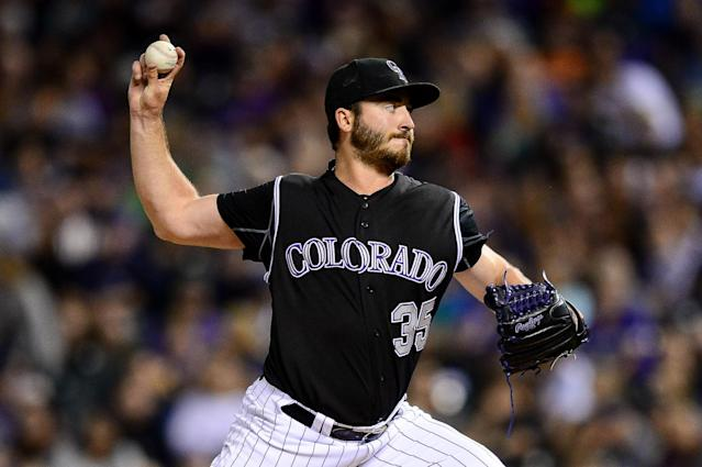 Chad Bettis, the right-hander for the Colorado Rockies and a 14-game winner just last season, had cancer. (Getty Images)