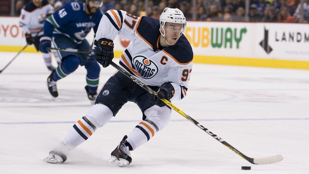 The Oilers being bad robbed McDavid of the MVP a year ago, that could happen again. (AP)