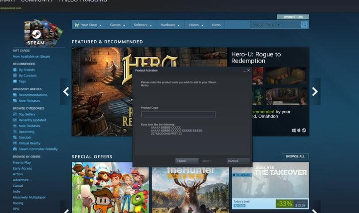 how to add games to steam code